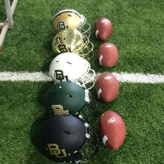These helmets are part of college football's best uniform. #SicEm #Baylor