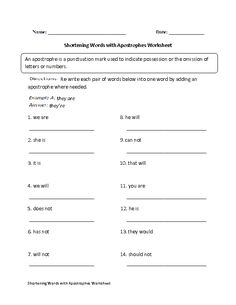 apostrophes worksheet 2 school work kids punctuation worksheets worksheets have fun teaching. Black Bedroom Furniture Sets. Home Design Ideas