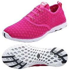 70a82b74b06c4 Dreamcity Women s water shoes athletic sport Lightweight walking shoes Rose  Red Size Rose Red B M US