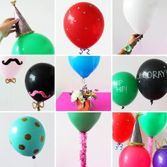 Last minute DIY balloon ideas for birthday parties and more using dollar store supplies that will make your party rock. Easy DIY balloon tutorials for kids. Diy Balloon, Love Balloon, Balloon Ideas, Balloon Party, Valentinstag Party, Diy Arts And Crafts, Crafts For Kids, Diy Crafts, Diy Party