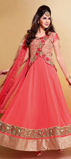 412529: Designer Jackets with Anarkali