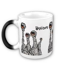 Believe Alien Rocks Mug by SimonaMereuArt $20.00