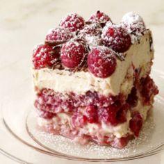 PB&J Tiramisu by Food Network Kitchen Raspberry Tiramisu, Raspberry Desserts, Raspberry Cake, Köstliche Desserts, Plated Desserts, Italian Desserts, Holiday Desserts, Cake Recipes, Dessert Recipes