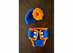University of Florida Baby Girl Crochet Hat & Matching Diaper Cover // @gatorgirl83 look!!! <3