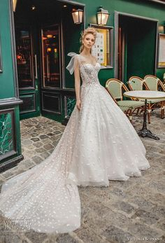 victoria soprano 2019 bridal detachable ribbon straps sweetheart neckline full embellishment romantic a  line wedding dress chapel train (8) mv -- Victoria Soprano 2019 Wedding Dresses | Wedding Inspirasi #wedding #weddings #bridal #weddingdress #bride ~