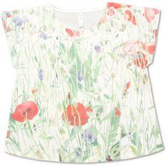 """Rainy garden""T-shirt / ShopStyle: Graniph 木村彩子ボックスT(雨の日の花壇)"