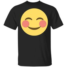 19.95 USD ;  Cheeky Smile Emoji Face T-Shirt ;  Cheeky Smile Emoji Face T-Shirt #CheekySmileEmojiFace #CheekySmileEmoji #CheekySmile #Cheeky #Cheeky #Smile #Emoji #Face #T-Shirt Smile Design, Emoji Faces, Digital Prints, Unisex, Type, Decoration, Fit, Sleeves, T Shirt