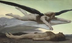 """Detail of Adolphe William Bouguereau's """"Égalité devant la mort"""" (1848).  ....the Musée d'Orsay in Paris is inaugurating """"Masculin/Masculin. L'homme nu dans l'art de 1800 à nos jours,"""" an exhibition which showcases over two centuries of male nudes from artists ranging from Jacques-Louis David to Kehinde Wiley. Modern Painters caught up with its curator, the museum's president Guy Cogeval, to discuss taboos, the gay marriage debate, and his ambitions for one of France's best-loved…"""