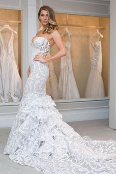 Ready for some gorgeous new Pnina Tornai wedding dresses, all modeled by fitness star Anna Victoria at Kleinfeld in New York City? Yup, thought so.