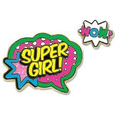 Charmit Super Girl Enamel Pin Set - $6.00