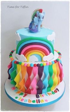 My Little Pony Rainbow cake  by Time for Tiffin