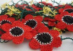 turkish crochet lace poppies.