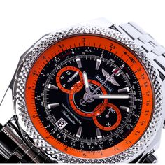 Breitling For Bentley Limited Edition Supersports Black & Orange Chronograph A26364A5/BB65