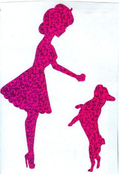 French Bulldog and Pin Up Silhouette Purple by dangersjones, $6.00