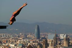 Sarah Barrow of Great Britain competes in the Women's 10m Platform Diving final  on day six of the 15th FINA World Championships at Piscina Municipal de Montjuic on July 25, 2013 in Barcelona, Spain.