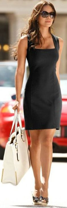 40 Beautiful Sleeveless Outfits For Women | http://stylishwife.com/2014/03/beautiful-sleeveless-outfits-for-women.html