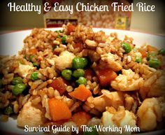 Survival Guide by The Working Mom: Healthy and Easy Chicken Fried Rice Recipe with Minute Rice #LoveEveryMinute