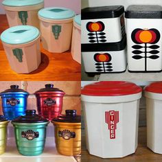 Merveilleux Vintage Canisters By Eggbeater1, Via Flickr