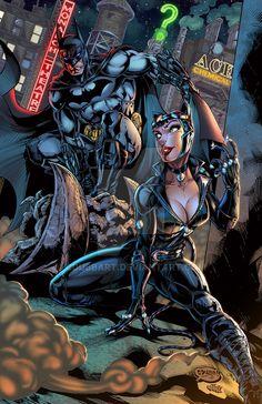 Arkham City: The Cat and The Bat Colors by CdubbArt on DeviantArt Catwoman Comic, Batman And Catwoman, Batman Arkham Knight, Batman The Dark Knight, Joker, Batman Arkham Games, Arte Dc Comics, Dc Comics Art, Comics Girls