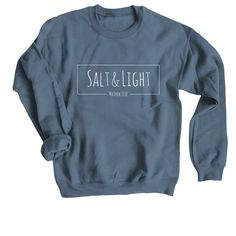 Grab your limited edition Made New Sweatshirt & Tee merchandise before the campaign closes. Featuring Sport Grey Crewneck Sweatshirts, professionally printed in the USA. Jesus Shirts, Christian Clothing, Christian Shirts, Christian Apparel, Salt And Light, Look Short, Travel Shirts, Cute Shirts, Shirt Designs