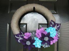 yarn wreaths | yarn wreath
