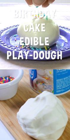This Birthday Cake Batter Edible Play Dough smells good enough to eat! AND it's made with all-food ingredients, so there's no need to worry if your kiddo sneaks a taste. Safe, non-toxic, and easy to make!