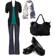 Pop of teal, created by styleofe.polyvore.com