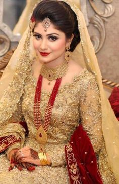 "Pakistani Wedding Dress Ideas - Pakistani Wedding Dress Ideas A ablaze chat about cocky doubts and appearance with Nishat Khan[[caption id="""" Dulhan Dress, Walima Dress, Desi Bride, Pakistani Wedding Dresses, Indian Dresses, Pakistani Bridal Makeup, Bridal Mehndi, Bridal Looks, Bridal Style"