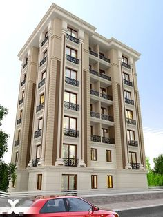 Stanch Projects is a construction company with diversified operations in to General and Industrial Civil contracts - Architecture Residential Building Design, Building Exterior, Building Facade, House Outside Design, House Front Design, Facade Architecture, Residential Architecture, Facade Design, Exterior Design