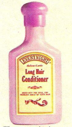 Helene Curtis Everynight Shampoo Conditioner, 1975 ad.