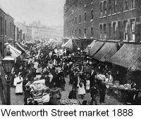Wentworth street market back in 1888, where Jack the Ripper stalked his victims.