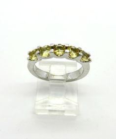 Multi Stone Citrine Ring Vintage Sterling by LeesVintageJewels #GotVintage  #Vintage  #Jewelry
