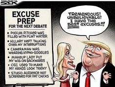 Best Donald Trump Cartoons: Trump Excuses