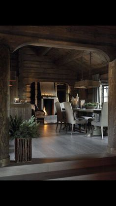 3 Gifted Tips: Classic Rustic Interior rustic house living room.Rustic Party Banner rustic home christmas.Rustic Fireplace Mountain Homes. Cabin Interior Design, Chalet Interior, Interior And Exterior, House Design, Attic Design, Chalet Design, Cabin Homes, Log Homes, Wooden Cabins