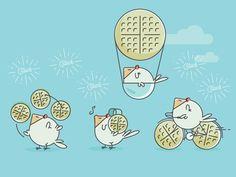 Chicken & Waffles Illustration