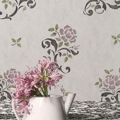 Random Roses Floral & Vine Stencil