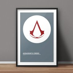 Assassin's Creed Poster, Game Poster, Minimalist Poster, Flat Poster Design, Clean Poster Design, Digital Printable Poster