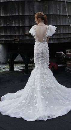 Featured Dress: Adam Zohar; Wedding dress idea.