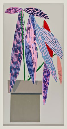 Pink plant with shadow #1 2014 Jonas Wood