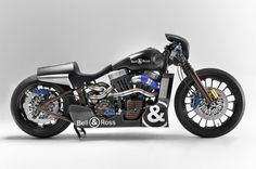 "SHAW SPEED CUSTOM x BELL  ROSS ""Nascefe Racer"" Harley davidson Softail NightTrain"