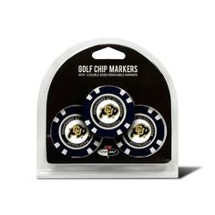 Team Golf Colorado Buffaloes 3-pack Poker Chip Ball Markers, Multicolor