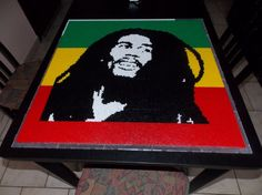 Bob Marley hama perler by creations-differente - skyrock