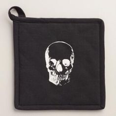 Halloween Skull Potholders, Set of 2