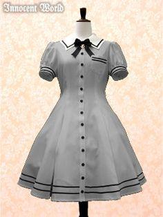 Anchor Charm~Innocent World Lolita Fashion, Teen Fashion, Schoolgirl Style, Anchor Charm, Sailor Dress, Complete Outfits, Lolita Dress, Fashion History, Pin Up