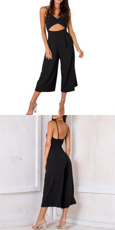 84e3a2f237e Hollow out rompers womens jumpsuit v neck backless sexy bodysuit sleeveless  overalls for women s8719 dropship