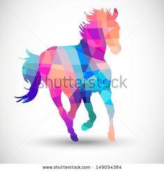 Geometric horse. Idea for my tattoo