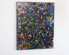 Colorful abstract crayon painting 16x20 by LaylasTrinkets on Etsy, $70.00