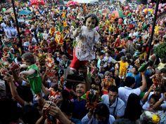 Philippine Catholics celebrate Santo Nino in the capital city Manilla