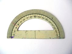 Vintage Small Protractor - Metal.