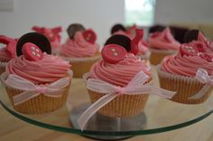 Buttons and Bows Cupcakes- for Mitzie